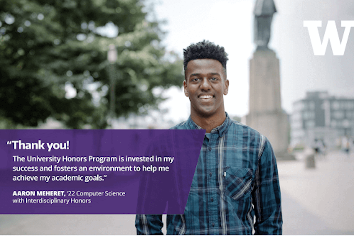 Aaron Meheret UW Thanks, 2020 Honors