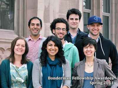 Bonderman Awardees, Spring 2011