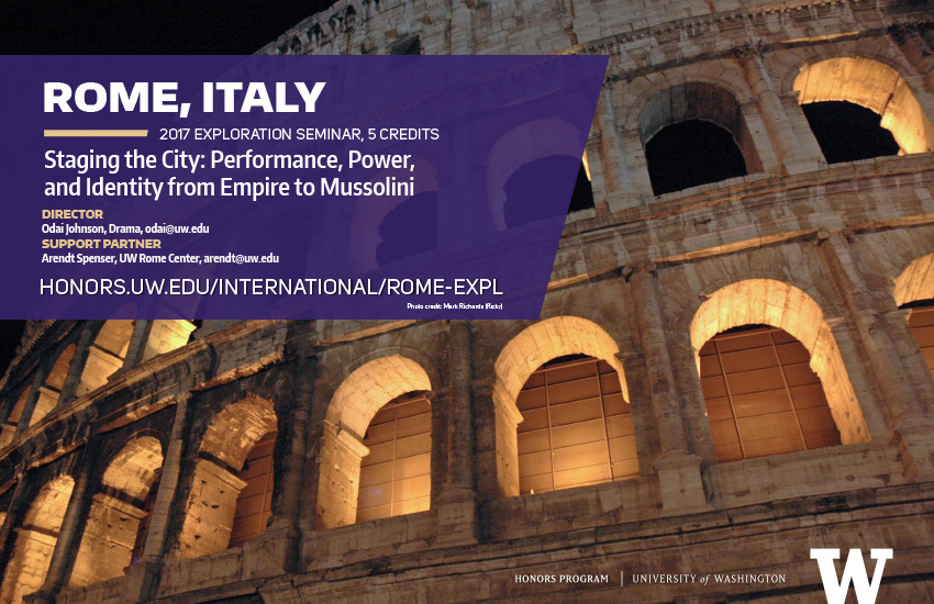 Rome Exploration seminar 2017 mini poster