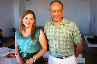 Photo of Greg Hicks and Anabelen Casares