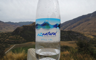 water and mountains
