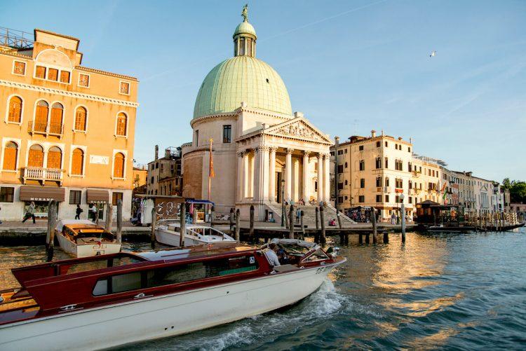 water taxi rides through Venice