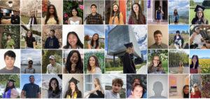 screen shot of 30 student portraits