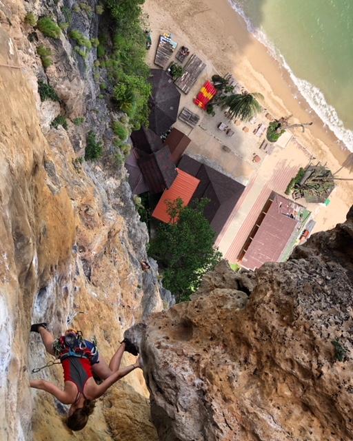 Kenza climbing Thailand