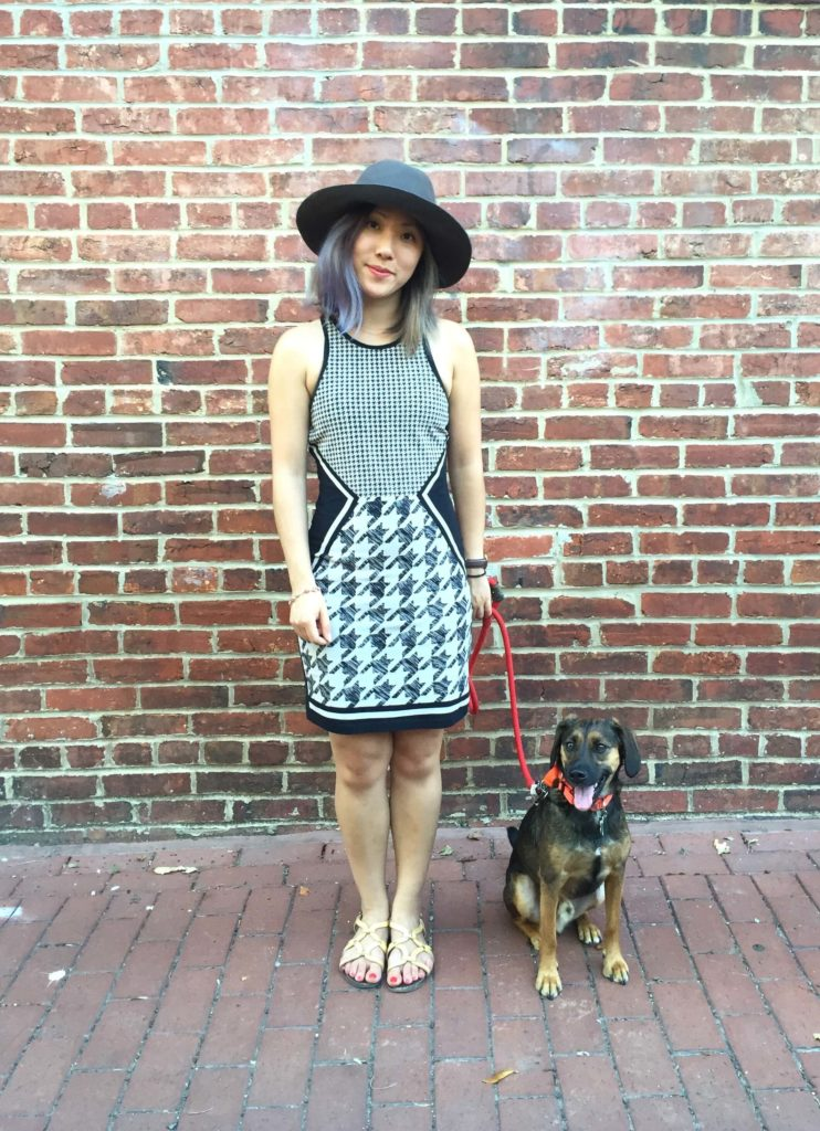 Kat Chow with her dog, Sampson