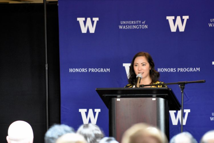 Kat Chow wins UW Honors Alumna award